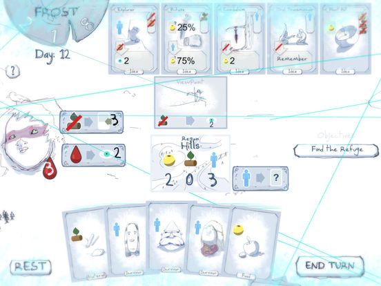 Frost - Survival card game iOS Screenshots