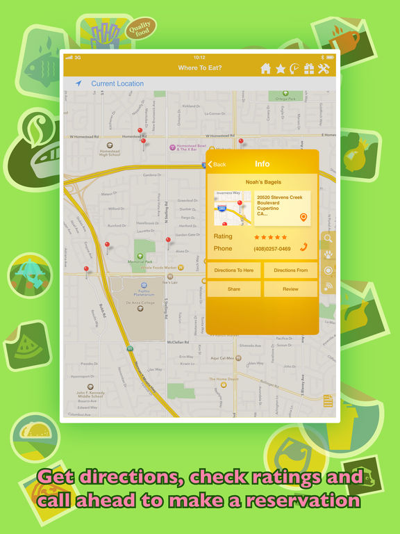 Where To Eat? - Find restaurants using GPS. Screenshot