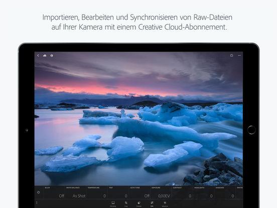 Adobe Photoshop Lightroom for iPad Screenshot