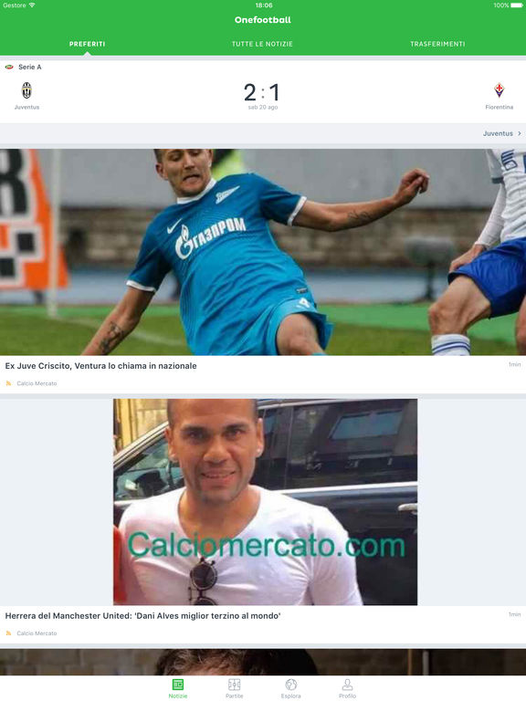 Onefootball - Notizie di Calcio & Live Scores Screenshot