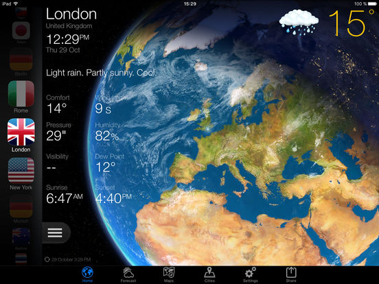 Weather Now Forecast Temperature Widget UK Alert Screenshot