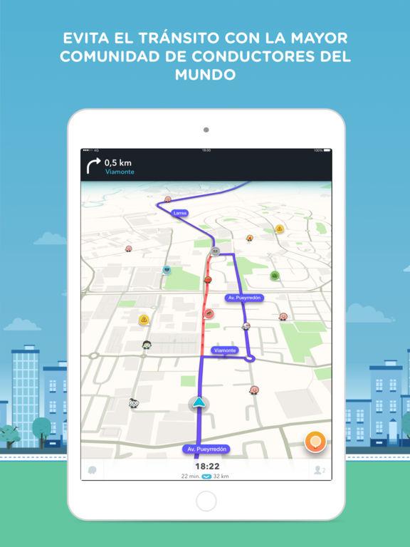 waze navegador gps social mapas y tr fico en el app store. Black Bedroom Furniture Sets. Home Design Ideas