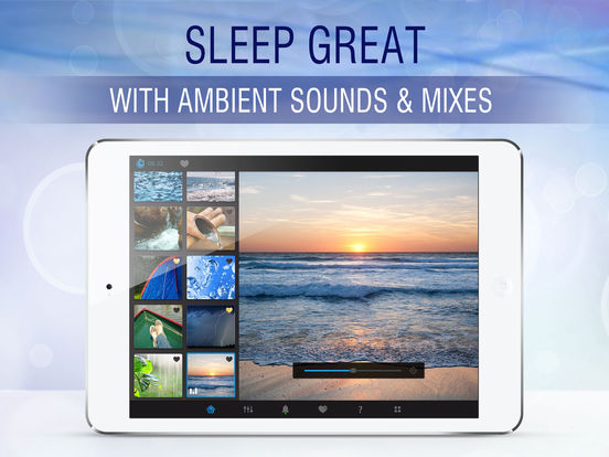 Sleep Pillow Sounds: white noise, rain, ocean, fan Screenshot
