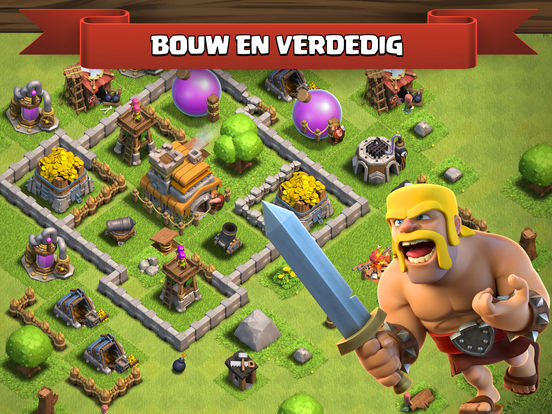Clash of Clans iPad app afbeelding 1