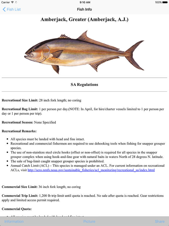 Sa fishing regulations app insight download for Florida saltwater fish size limits