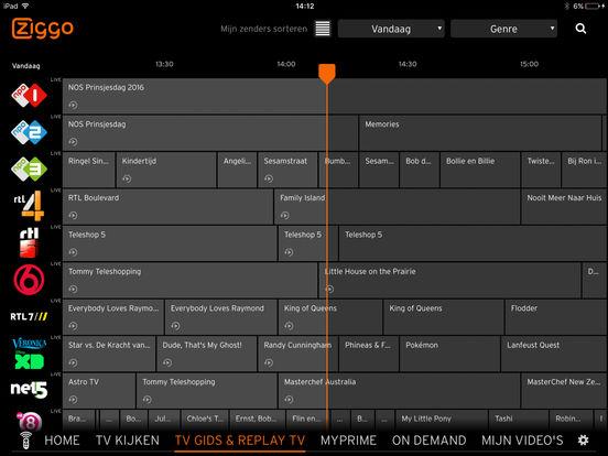 Ziggo GO - App voor iPhone, iPad en iPod touch - AppWereld