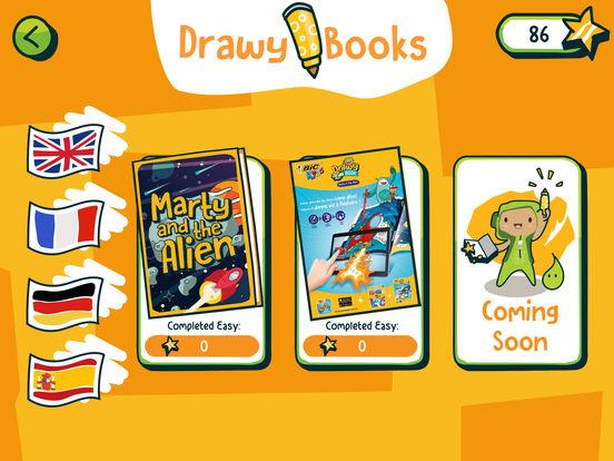 BIC Kids DrawyBook, coloriages animés Capture d'écran