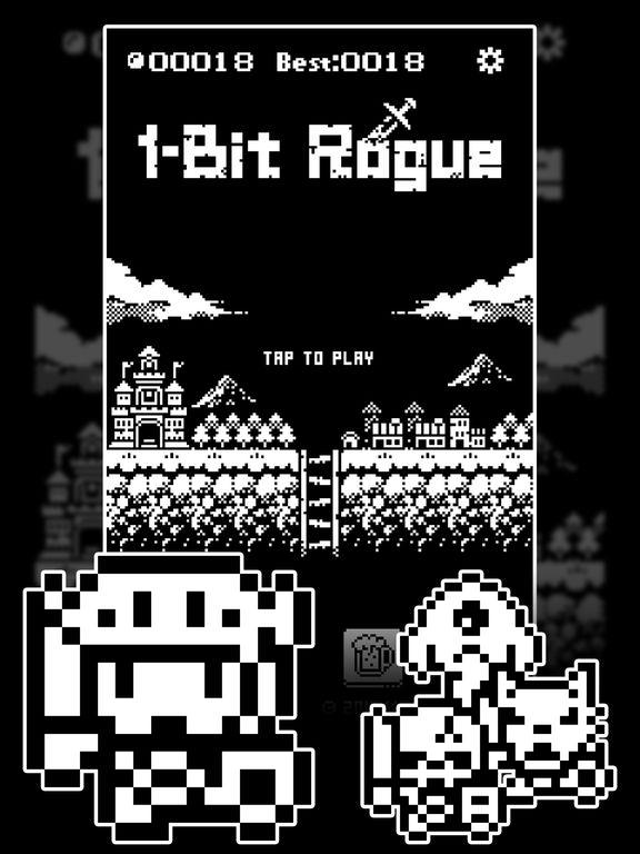 1-Bit Rogue: A dungeon crawler RPG! iOS Screenshots