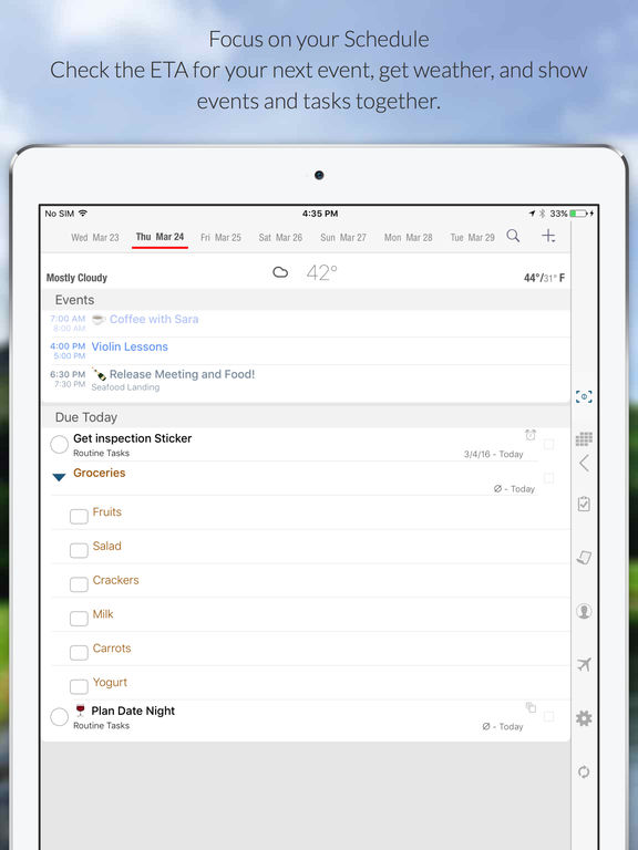 Informant - Agenda, Tasks, Notes Planner Screenshot