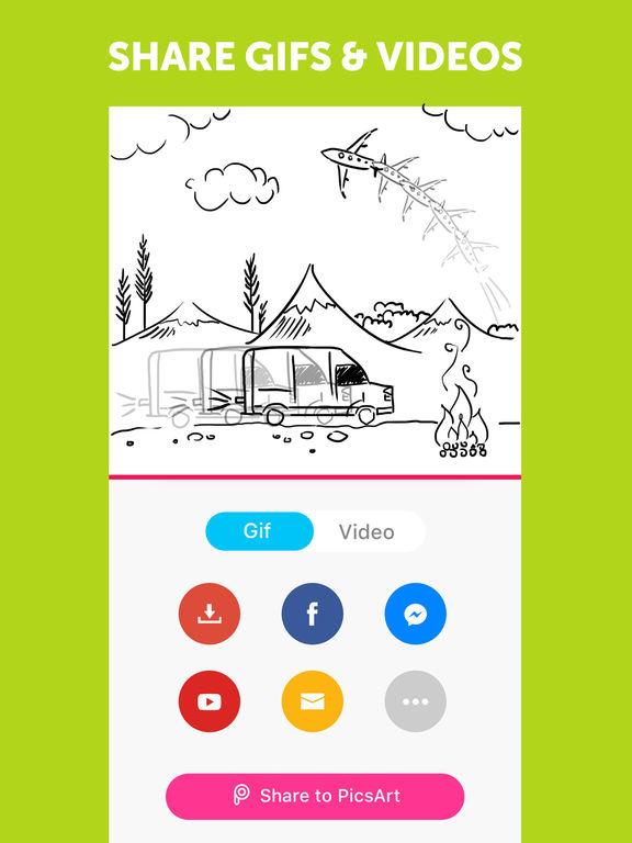 PicsArt Gif Animado & Video Animator Screenshot