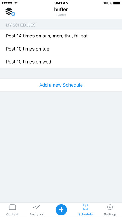 Buffer - Schedule Posts for Twitter & Instagram Screenshot