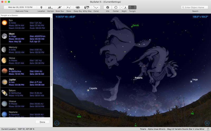 2017年3月30日Macアプリセール 天文/天体観測シミュレーションアプリ「SkySafari 5」が値下げ!