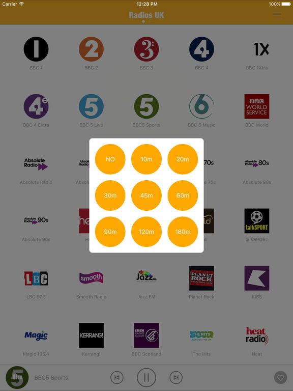 Radios UK FM (UK Radios, British Radios) - Include Capital FM, Heart, Absolute Radio, Smooth Radio, BBC Radio, Classic FM Screenshot