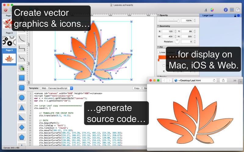 2015年7月2日Macアプリセール ベクトルグラフィックツール「Schwartz」が値下げ!