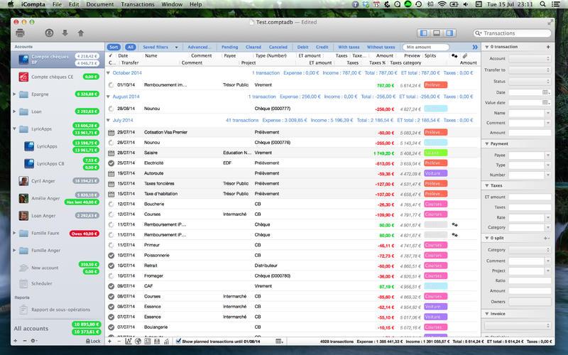2015年12月23日Macアプリセール 収支データ監視・記録マネージャーアプリ「iCompta 5」が値下げ!