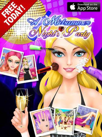真夏の夜パーティー , 無料の女の子のメイクアップゲームのおすすめ画像5