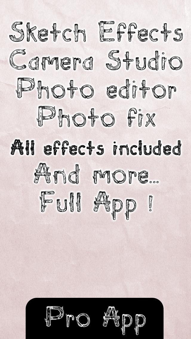2014年1月29日iPhone/iPadアプリセール フォトエディターツール「Pencil sketch plus photo sketches camera studio」が無料!