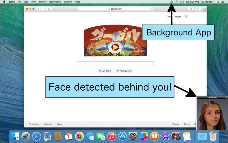 2015年10月7日Macアプリセール 覗き見防止カメラアプリ「FaceAlert」が無料!