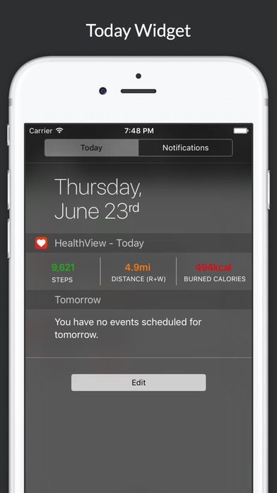 HealthView - Your Health & Fitness Data Dashboard Screenshots