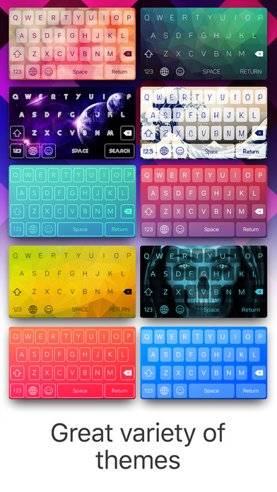 Color Keyboard Maker - Cool Skins & Emoticons Screenshots
