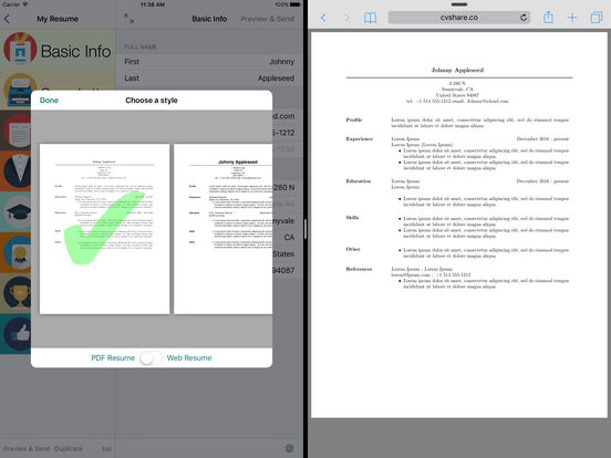 Pocket CV - The Original CV Builder IPA Cracked for iOS Free Download
