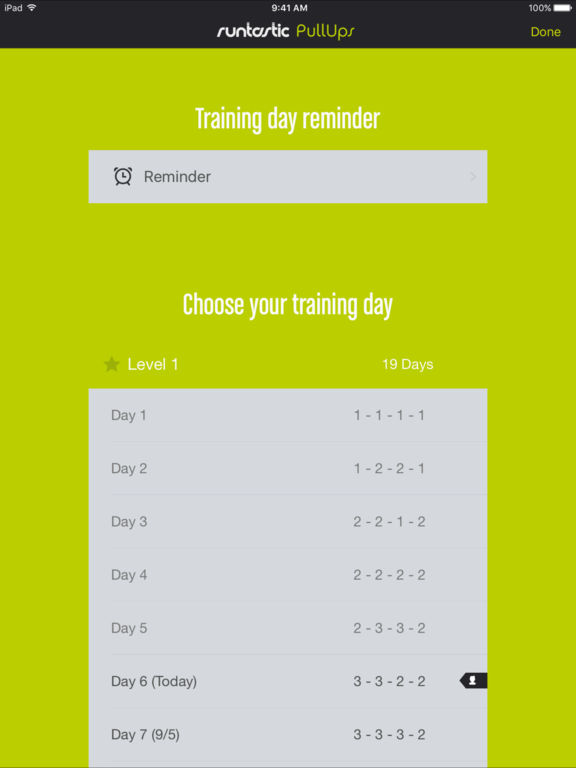 Runtastic Pull Ups PRO Workout, Trainer & Counter Screenshots