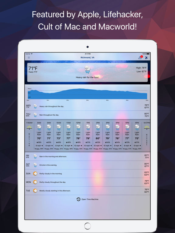 Forecast Bar - Weather, Radar, and Alerts Screenshots