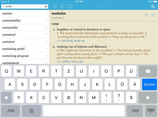 LexicEN English Offline Dictionary & Thesaurus Screenshots