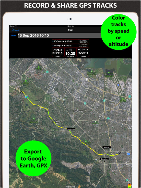 Speedometer. Trip Cost, Mileage and GPS Tracker Screenshots