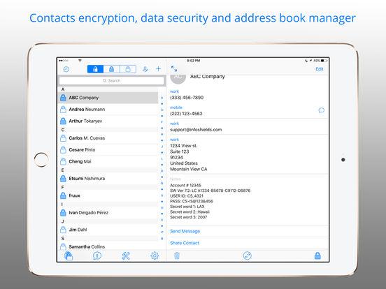 ContactShield – Encryption & Private Contacts Screenshots