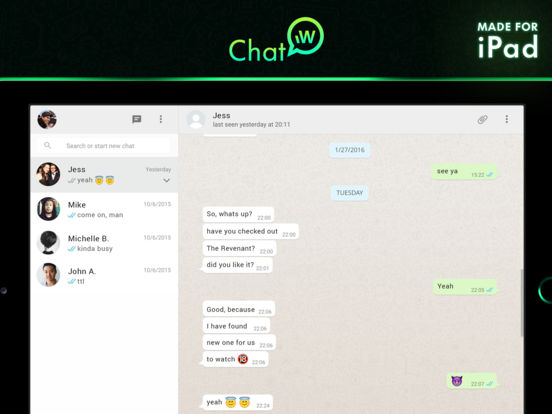 Chat for WhatsApp PRO - Feature Complete Screenshots