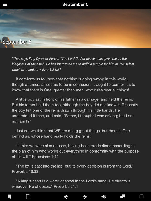 God's Comfort - Bible Devotional Screenshots