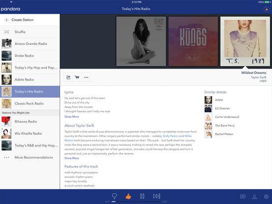 Pandora - Free Music & Radio Screenshots