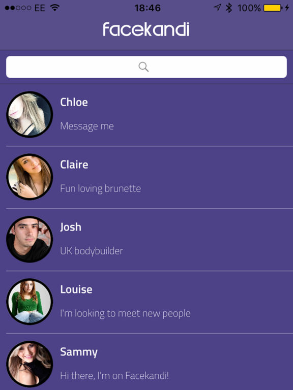Facekandi Chat for Chatroulette & FaceTime Dating Screenshots