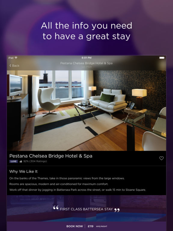 Hotel Tonight - Last Minute Deals & Bookings Screenshots