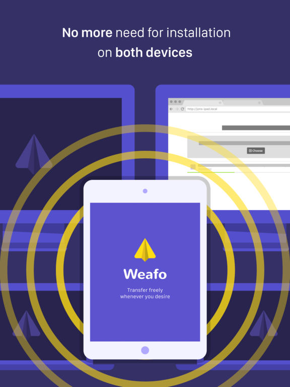 Weafo Pro - Send File, Image and Photo to Computer Screenshots