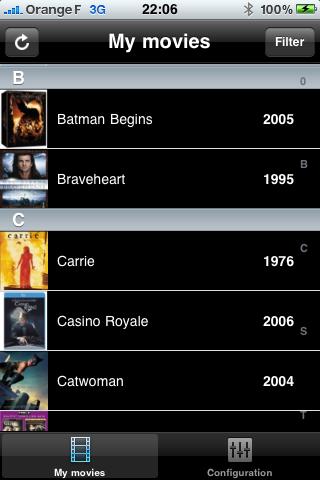 My Movies Rack Free free app screenshot 1