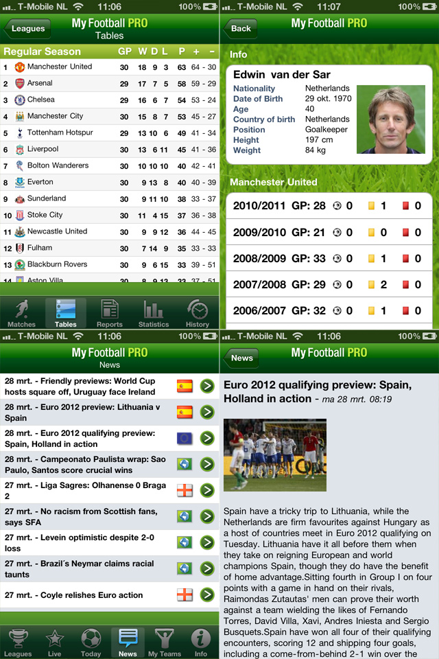 My Football Pro 2011 Screenshot