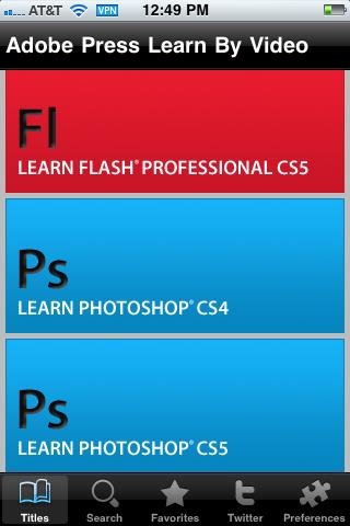 Adobe Press Learn by Video free app screenshot 1