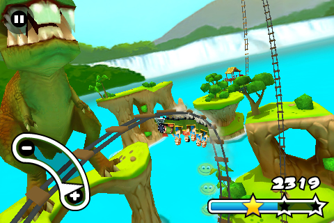 Jurassic 3D Rollercoaster Rush FREE