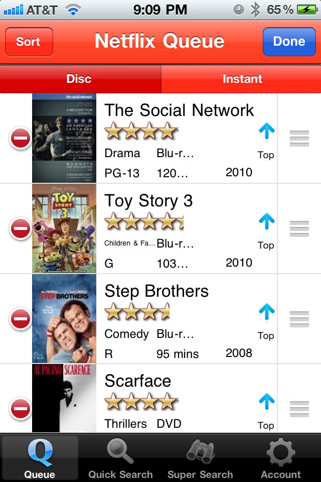 FlicksMan - Netflix Queue Manager free app screenshot 1