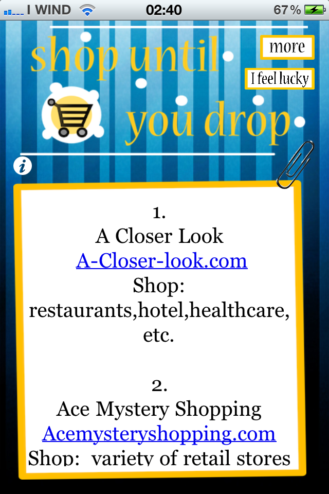 Shop Until You Drop Screenshot