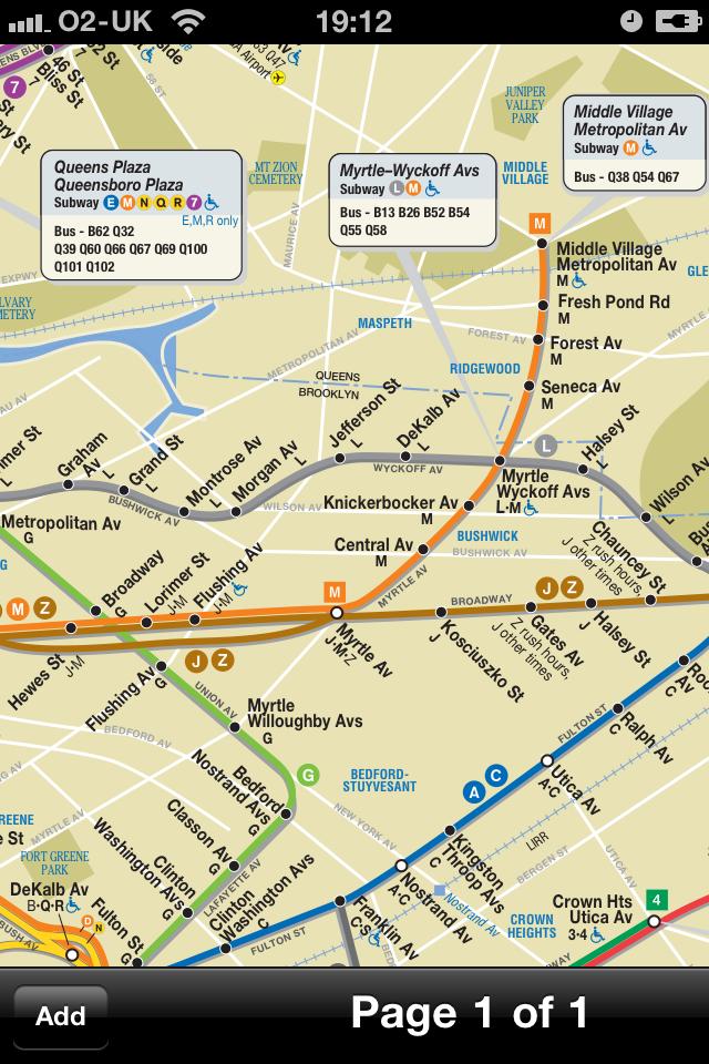 New York Transport Map - Free Subway Map on iPh... free app screenshot 1
