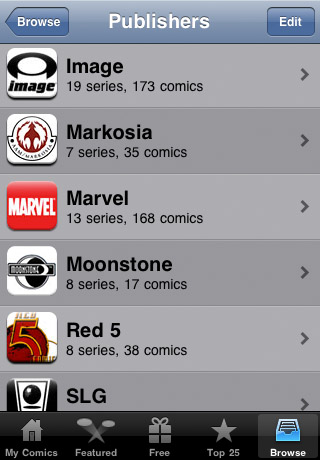 Comics free app screenshot 1