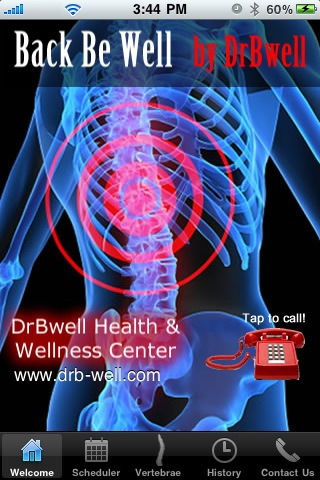 Back Be Well by DrBwell free app screenshot 1
