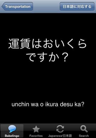 Babelingo Translated Phrases - 11 Languages