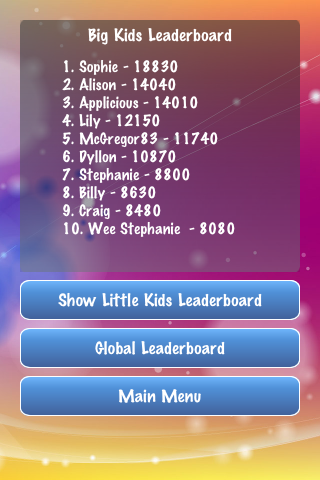 Disney Quiz Screenshot