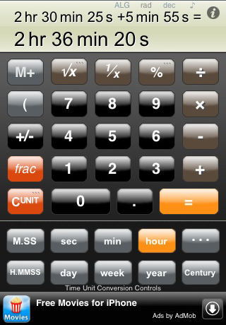calc zero time a free time calculator iphone utilities apps by