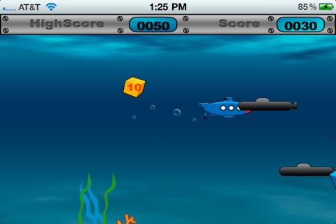 Submarine Game HD Lite iPhone Screenshot 5