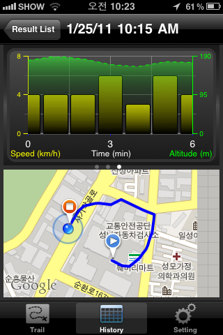 GPS Tracking Screenshot